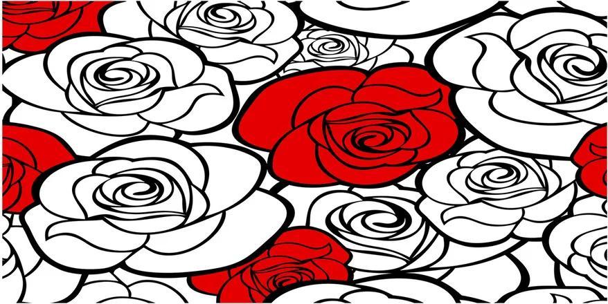 Tablou Printat Pe Sticlă Trandafiri