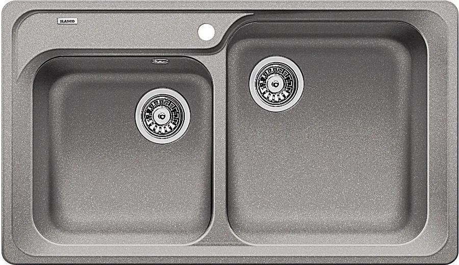 Chiuveta Granit Blanco Classic 8 Alumetalic 860 x 500 mm