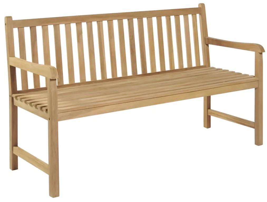 43247 vidaXL Bancă de grădină, 150 cm, lemn de tec