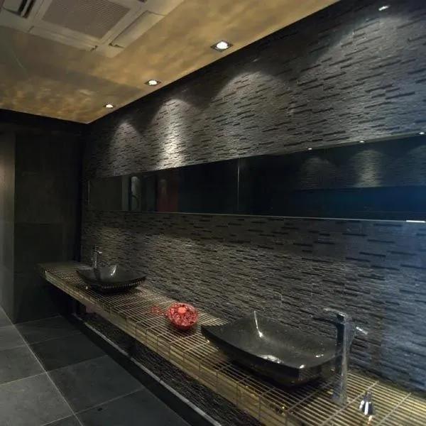 Mozaic Marmura Black Matrix 15 x 30cm Produs Comanda Speciala