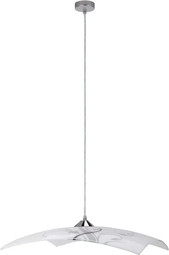 Rábalux 3694 Pendul cu 1 braț alb negru E27 1x MAX 60W 400 x 400 mm