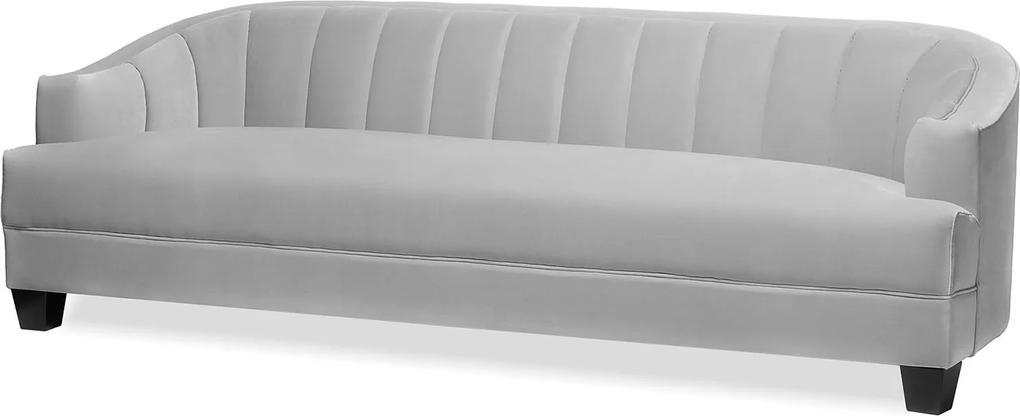 Canapea din catifea gri deschis Olsen Sofa Ash Grey