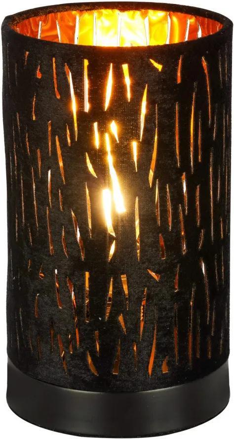 Globo 15264T1 Veioze, Lampi de masă TUXON negru metal 2 x E14 max. 40W IP20