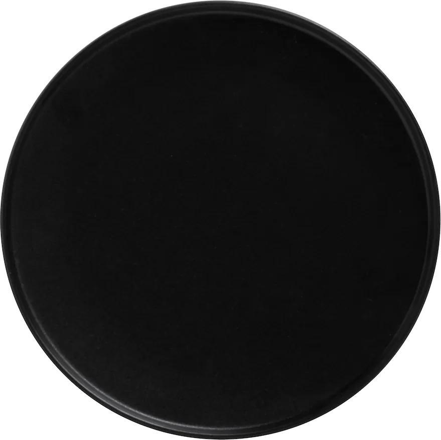 Farfurie neagră 24,5 cm - ediție Caviar - Maxwell & Williams