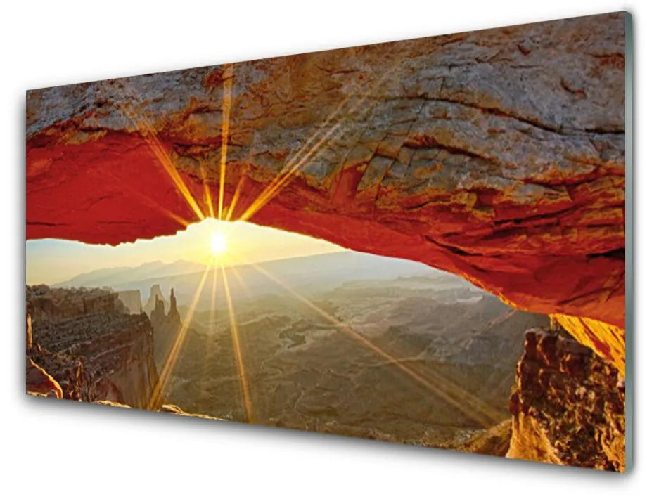Tablou pe sticla Grand Canyon Peisaj Roșu Maro
