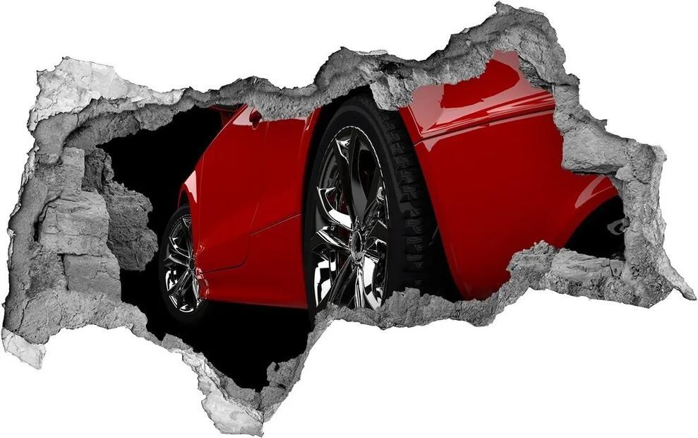 Autocolant autoadeziv gaură Mașină roșie