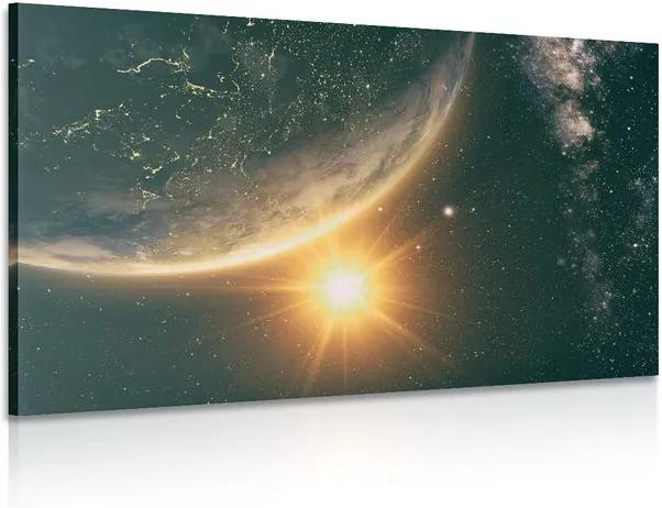Tablou răsăritul de soare în univers