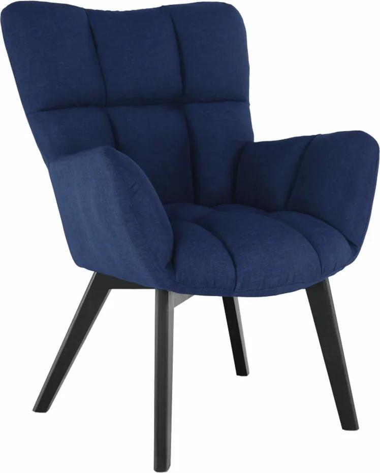 Fotoliu de design, albastru/negru, FONDAR