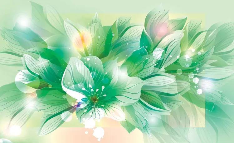 Flowers Nature Green Fototapet, (368 x 254 cm)