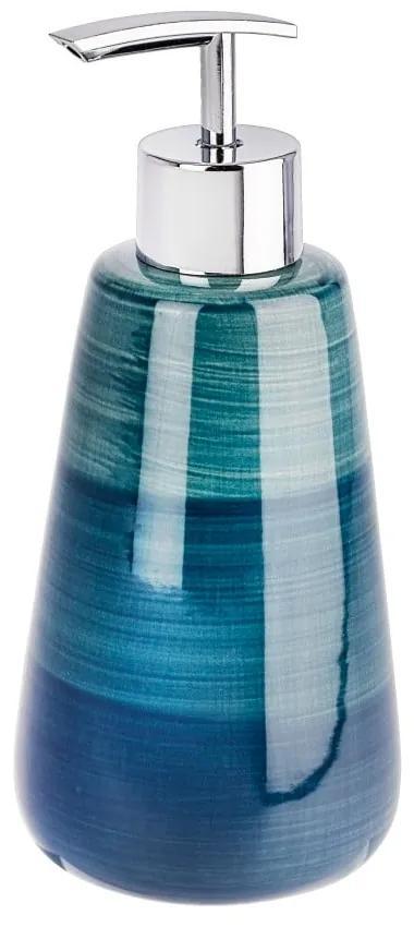 Dozator săpun lichid Wenko Pottery, albastru petrol
