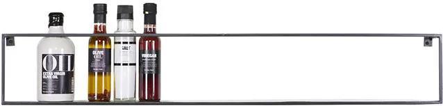 Raft negru din metal 100 cm Meert Woood