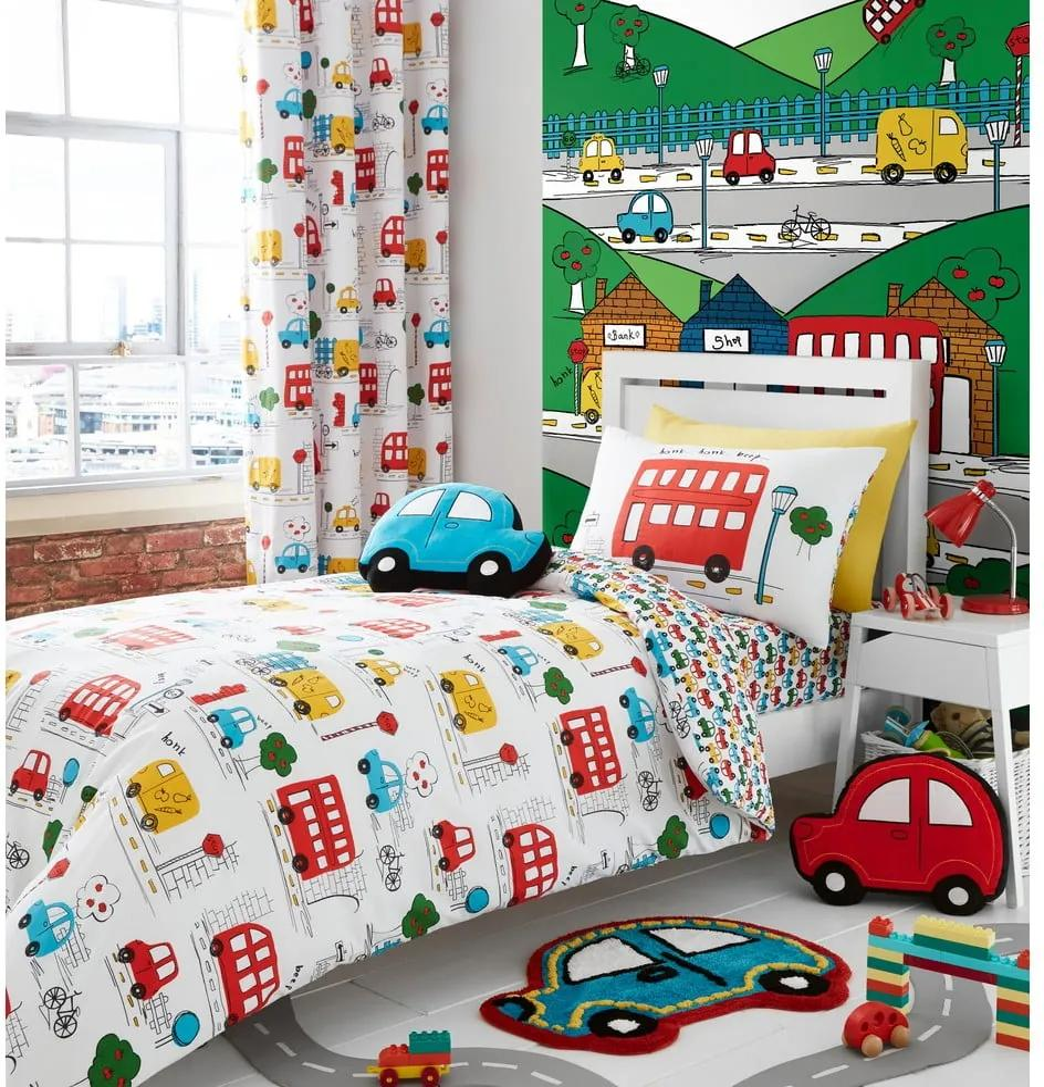 Lenjerie de pat pentru copii Catherine Lanfsield Cars, 135 x 200 cm