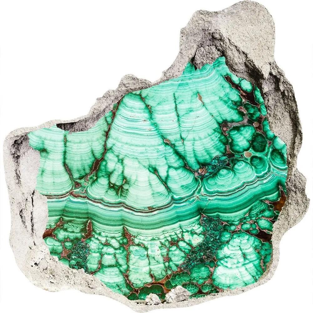 Autocolant autoadeziv gaură Textura malachit