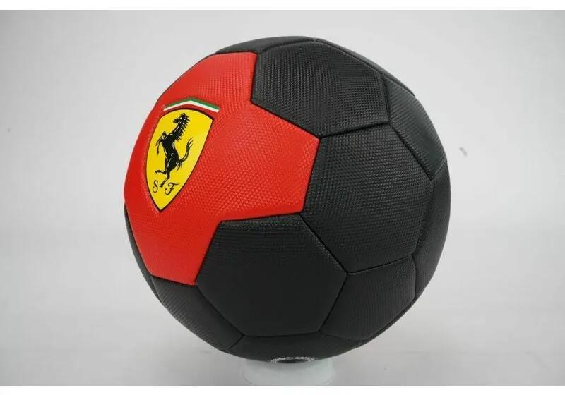 Mesuca - Minge de fotbal Marimea 5 Ferrari, Negru/Rosu