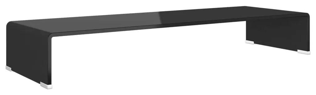244138 vidaXL Comodă TV/Suport monitor sticlă, 90 x 30 x 13 cm, negru