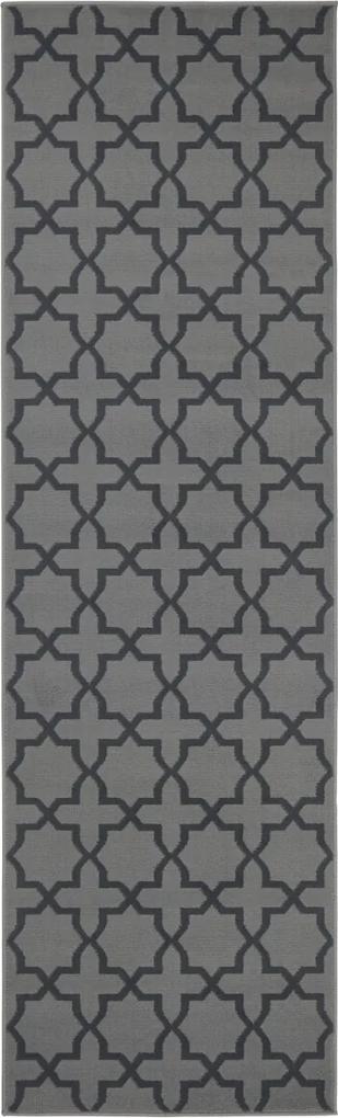 Covor Modern & Geometric Basic, Gri, 80x300