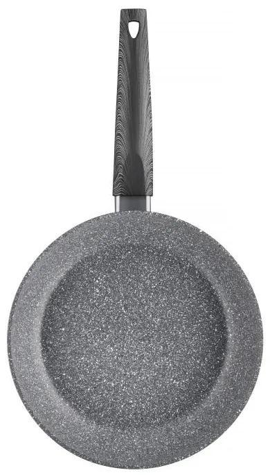Tigaie 24 cm cu acoperire qualum basic stone edition Loft