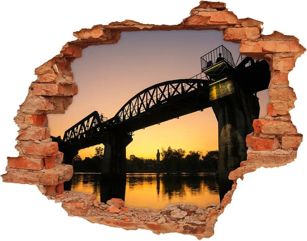 Autocolant gaură 3D Bridge în Thailanda