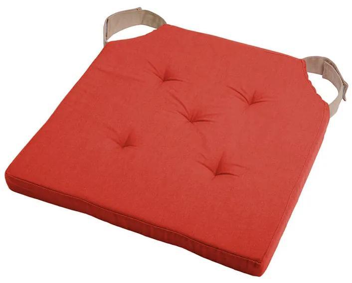Pernuţă pentru scaun DUO UNI cu scai, cărămiziu set 4 buc