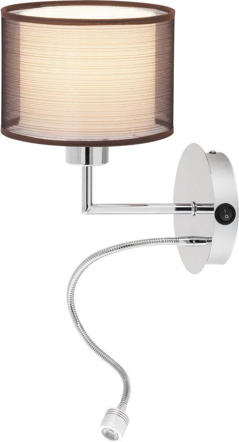 Rábalux 2629 Aplice perete de citit Anastasia crom metal E27 MAX 60W LED 1W 85lm 4000K IP20 A++