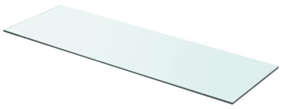 243835 vidaXL Raft din sticlă transparentă, 80 x 25 cm