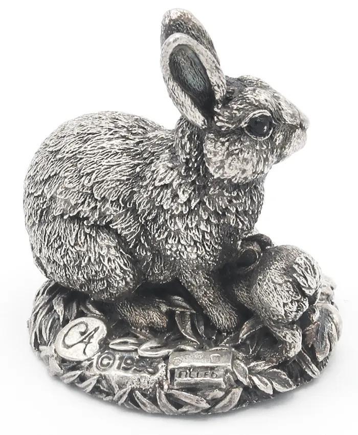 Decoratiune Iepure Portelan Argint