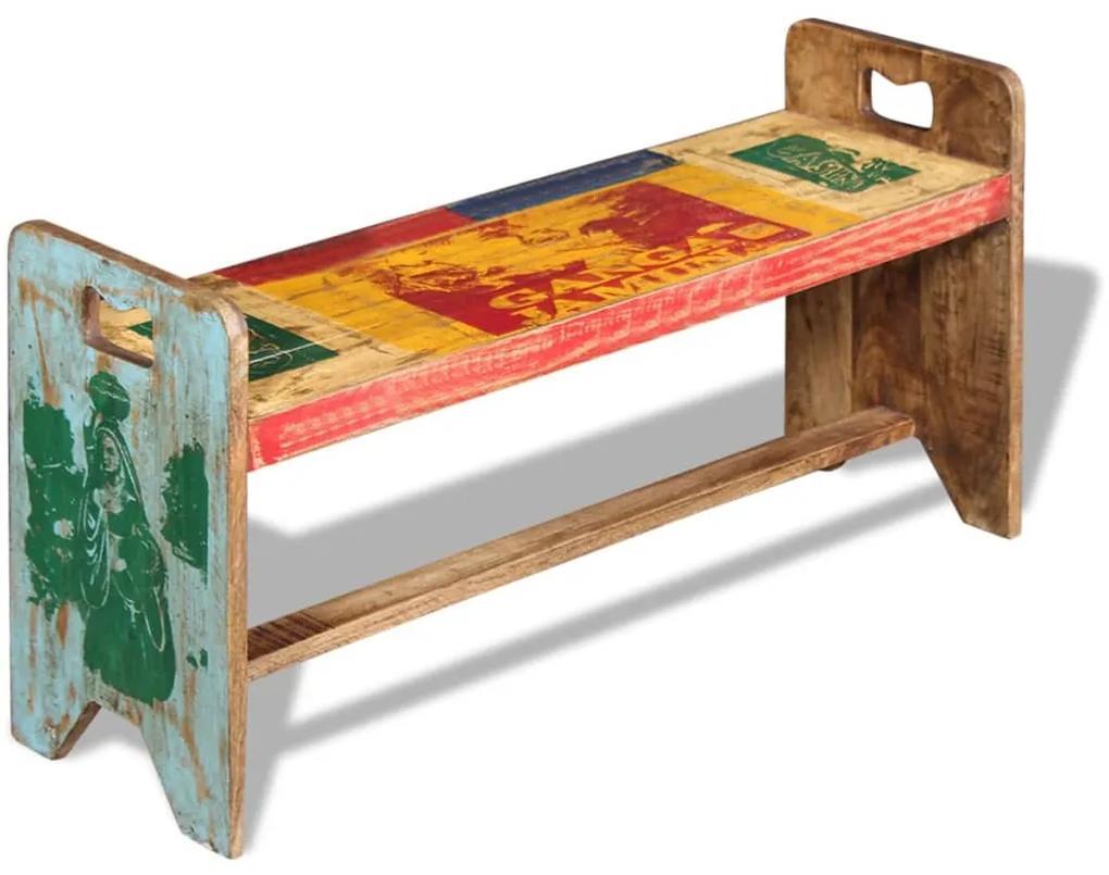 243457 vidaXL Cola Bancă din lemn masiv reciclat, 100 x 30 x 50 cm
