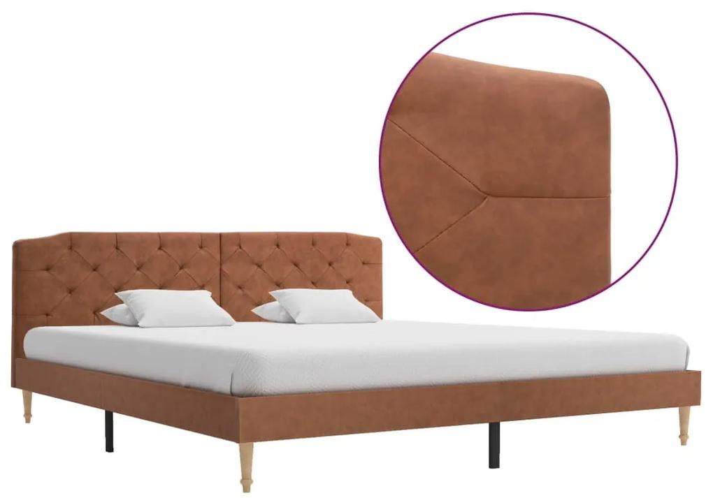 280561 vidaXL Cadru de pat, maro, 180 x 200 cm, material textil