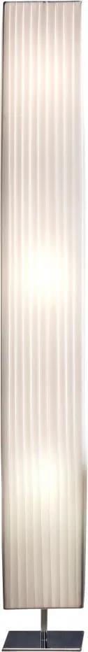 Lampadar patrat din latex/metal cromat THIS & THAT 160 cm alb, 3 becuri