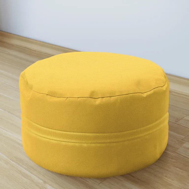 Goldea taburet decorativ 50x20 cm - loneta - galben închis 50 x 20 cm