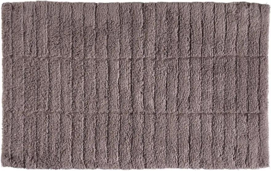 Covor baie din bumbac Zone Tiles, 50 x 80 cm, maro