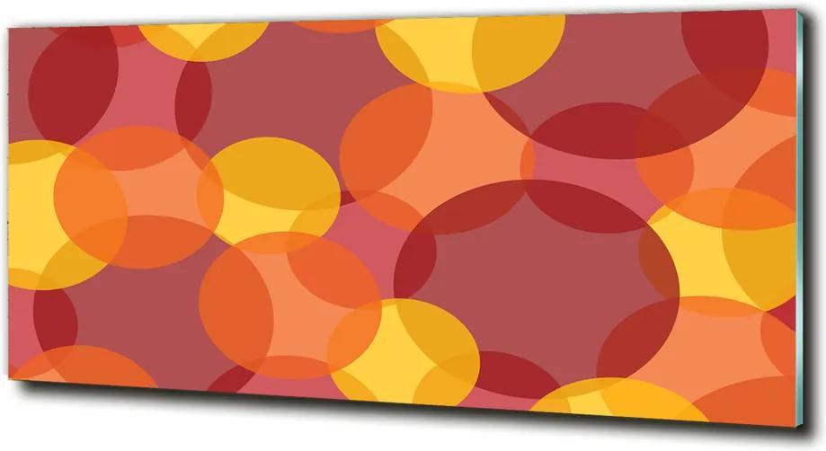 Fotografie imprimată pe sticlă Cercuri colorate