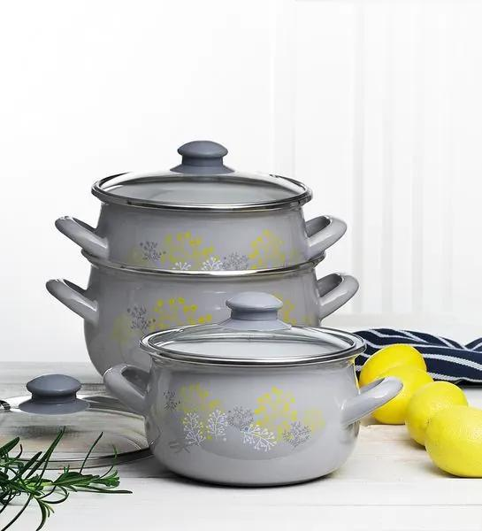 Set oale email 6 piese gri Nordic