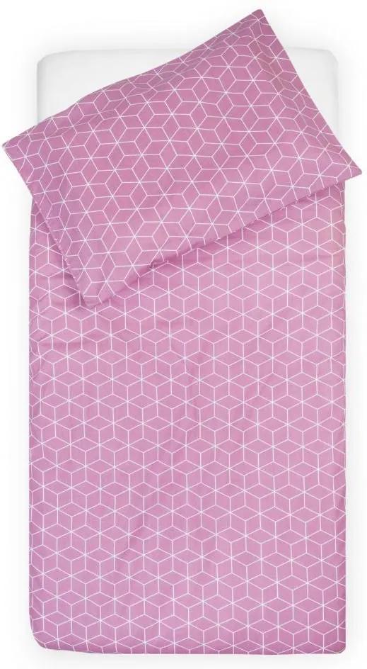 Lenjerie de pat bebe roz Jollein Graphic 100 x 140 cm