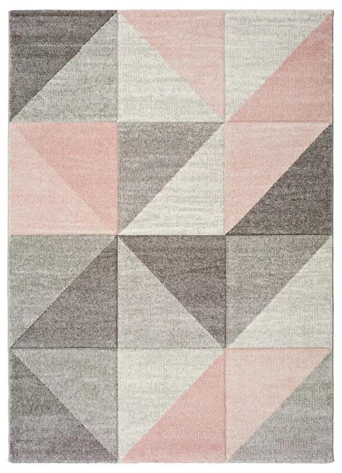 Covor Universal Retudo Naia, 160 x 230 cm, gri-roz