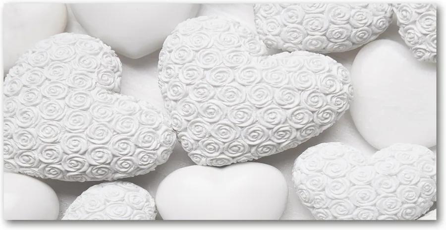Tablou sticlă Inima fundal alb