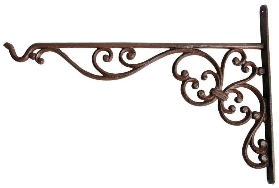 Suport din fontă pentru suspendat ghiveci Esschert Design Voluta, înălțime 24,7 cm