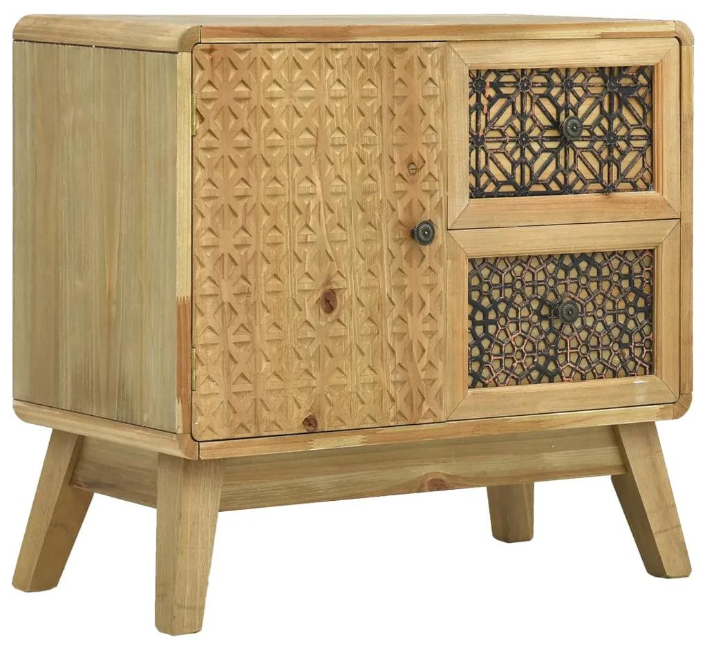 285766 vidaXL Servantă, maro, 60x30x56,5 cm, lemn
