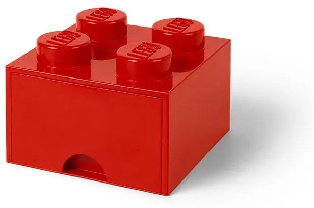 LEGO - Cutie depozitare 2x2 cu sertar, Rosu