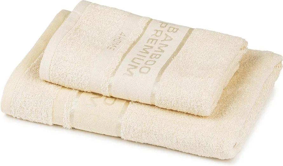 Set prosoape 4Home Bamboo Premium crem,