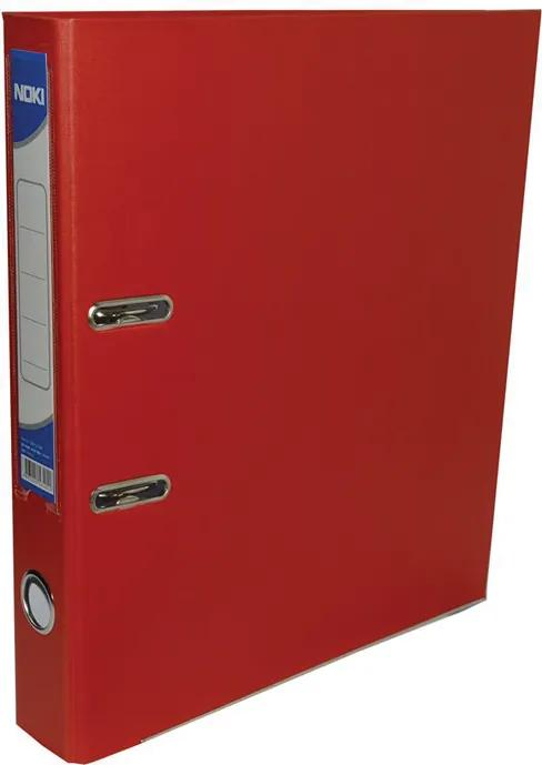 Biblioraft plastifiat Noki 7.5 cm rosu
