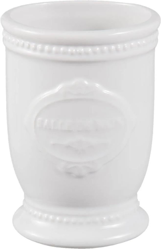 Pahar ceramica alba periute dinti Salle de Bain 7x6x11 cm