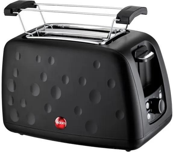 Toaster Prajitor de Paine Eldom, 900W, termostat reglabil, capacitate 2 felii, negru