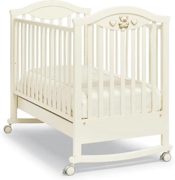 Patut bebelusi Amour cu doua nivele de saltea, Ivory