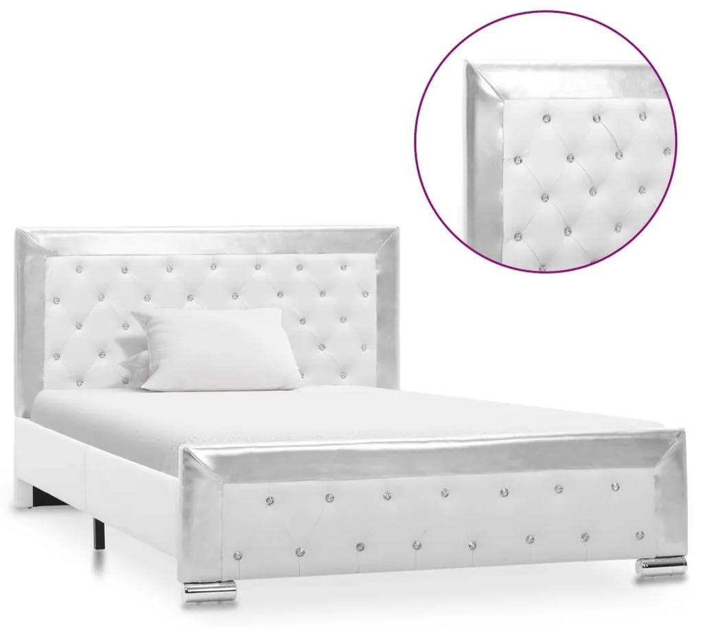 286789 vidaXL Cadru de pat, alb, 120 x 200 cm, piele artificială