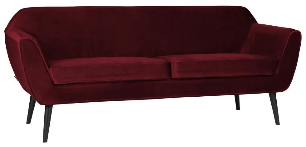 Canapea catifea rosie Rocco Sofa Velvet Red