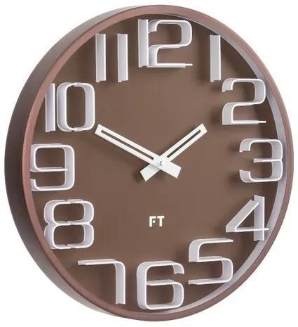 Ceas de perete Future Time FT8010BR Numbers, de design, diam. 30 cm