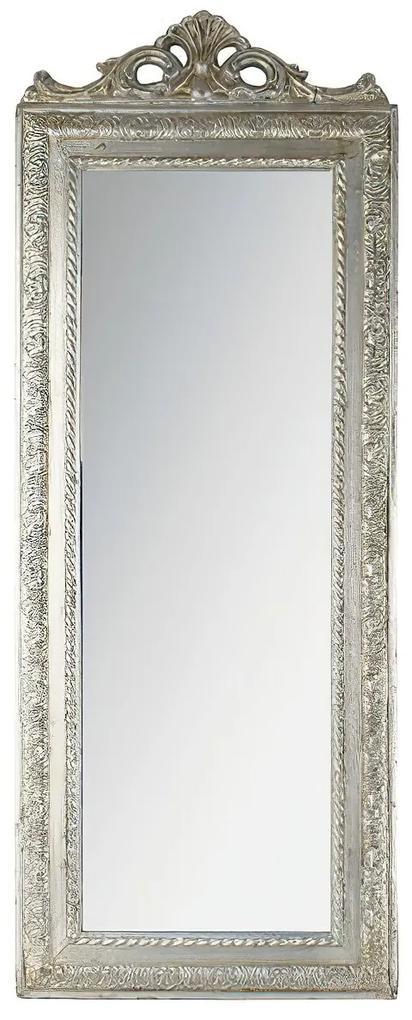 Oglinda Vintage Silver din rasina 90 cm