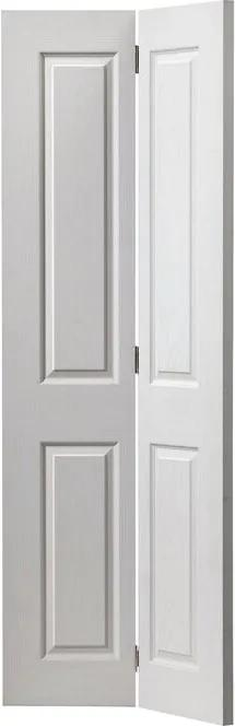 Ușă pliantă Canterbury, alba, 194 x 76,2 x 3,5 cm