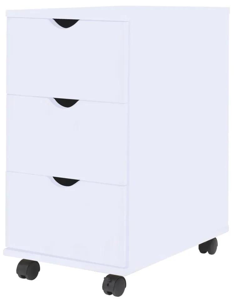 245727 vidaXL Dulap cu sertare, 33 x 45 x 60 cm, alb